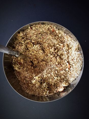 Bowl Mixing Bowl Bread Mix Nuts And Seeds Paleo Bread View From Above Cooking Preparing Food Food Photography Food Preparation
