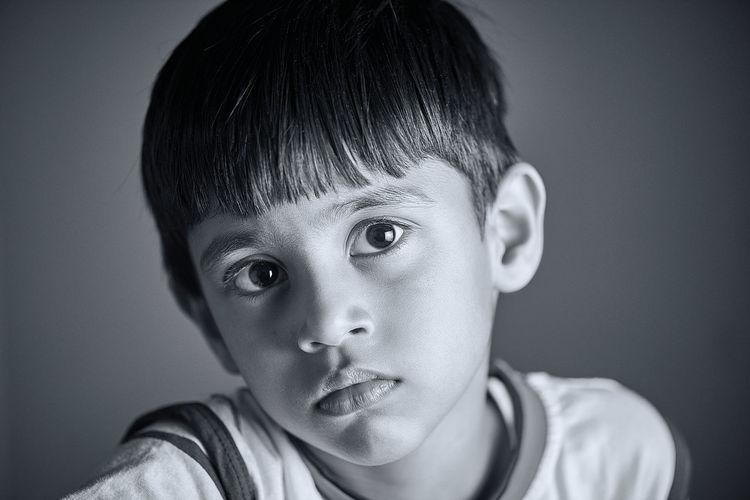 A kid looking