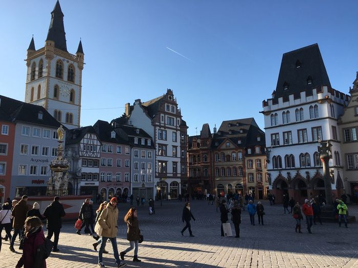 Trier, Germany Cityscape Cityscapes Architecture Citylife Town Square Outdoors Sky Architectureporn Architectureexterior] Built Structure Tourism Trier Germany