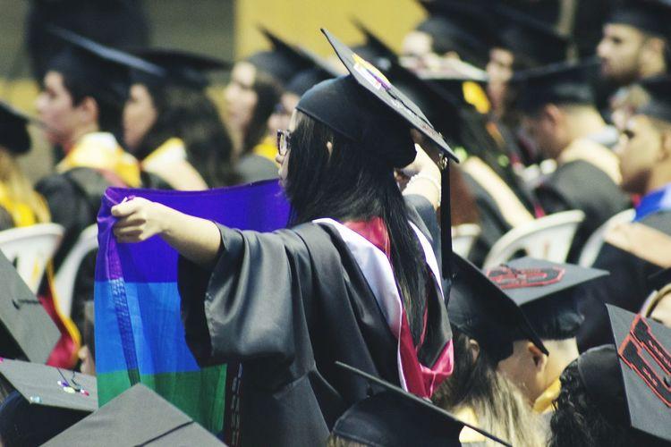 """""""Acepten el reto de apoyar las nobles causas y luchar contra la desigualdad..."""" -Leonardo Morales, rector UPR Ponce Prayfororlando Lovewins Love Equality Lgbt GradUPRP2016"""