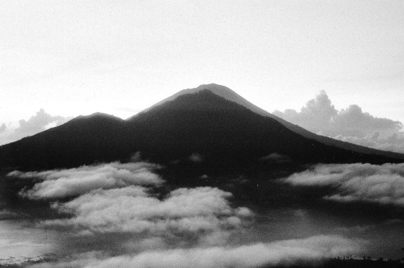Mountain Nature No People Cloud - Sky Beauty In Nature EyeEmNewHere Sky Outdoors Film Photography Black & White Black And White Photography Film Bali, Indonesia Volcano Volcano Batur TheWeekOnEyeEM The Week On EyeEm Done That.