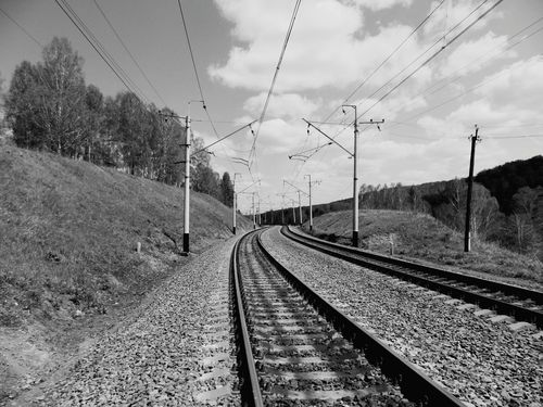B&w Photo B&w Blackandwhite Black & White Black&white Trainway