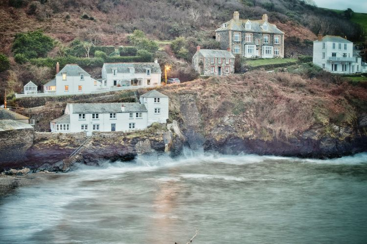 Cornwall Beach Long Exposure Coastal Coastline Doc Martin Long Exposure Shot Reflections Reflections In The Water Nikon Water Residential Building Motion House Tree Architecture Building Exterior Built Structure Crashing Residential Structure Power In Nature Wave Surf Building EyeEmNewHere
