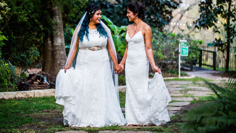 Bride Celebration Couple - Relationship Females Love Love Is Love Newlywed Positive Emotion Togetherness Wedding Wedding Dress Women Young Women