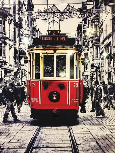 Cable Car Land Vehicle Architecture Built Structure Transportation Mode Of Transportation City Building Exterior Public Transportation Day Nature Street Red No People Outdoors Track Railroad Track Sunlight Rail Transportation