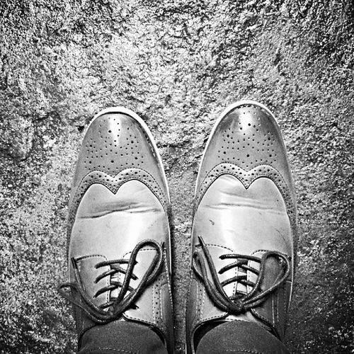 These shoes are made for walking. Brogue Wingtip