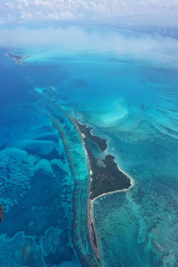 Abaco's Bahamas Aerial Photography Abaco Islands Aerial View Sea Coast Clouds And Sky No People Aerial Shot Blue Seascape Nature Beauty In Nature Island