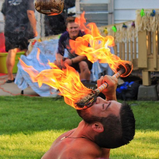 Luau Luau Party Fire Fire Dancer Fire Dancing Entertainment Entertainer Party People