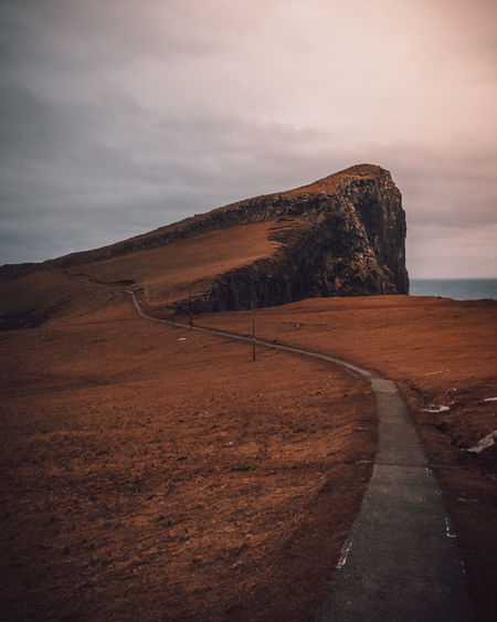 Sky Cloud - Sky Beauty In Nature Tranquility Scenics - Nature Tranquil Scene Environment Nature Landscape The Way Forward Land Road No People Direction Non-urban Scene Mountain Transportation Outdoors Water Isle Of Skye Neist Point Cliff Sea Clouds My Best Photo