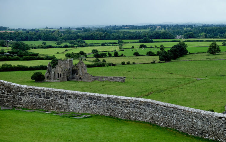 Castle Green Color Ireland Landscape Nature Rock Of Cashel Ruins Tranquility