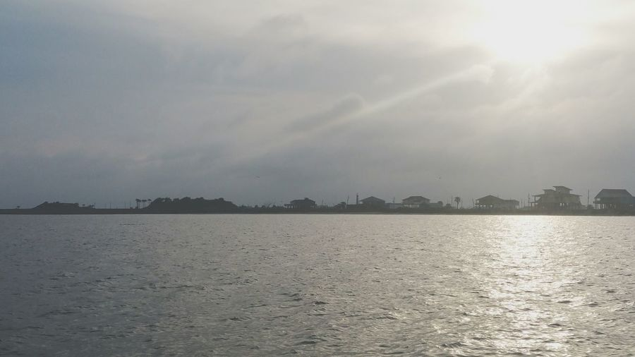 Bolivar Peninsula Texas Water Fishing (: Sun