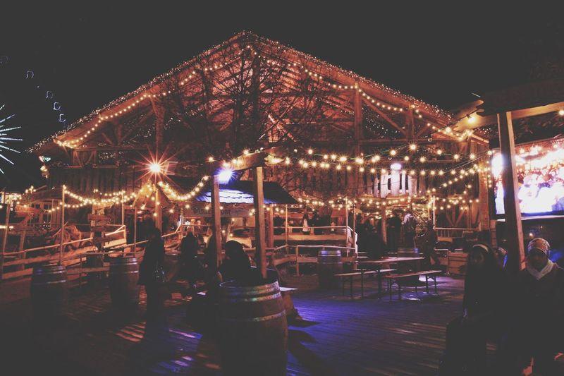 Illuminated Night Outdoors Amusement Park Ride Sky Amusement Park No People Carousel Winter Wonderland ❄ Finding New Frontiers