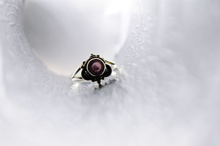 Close-up  on white ring