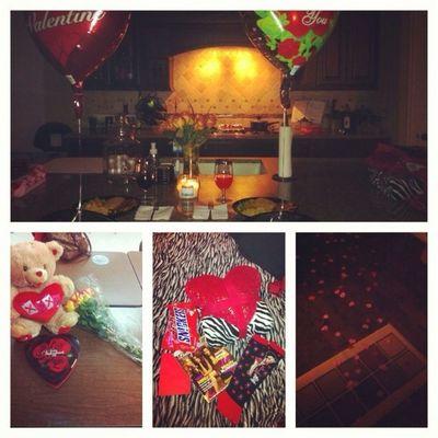 my valentine was amazing . ( :