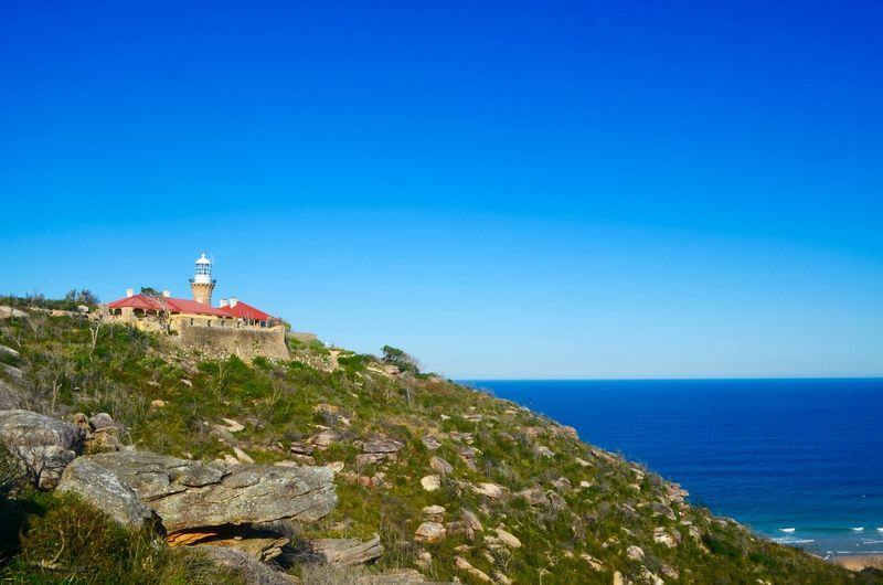 Lighthouse Scenics Beauty In Nature Nature Cliff Clear Sky Blue Sea First Eyeem Photo