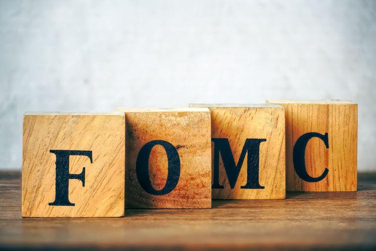 "Text ""FOMC"" on"