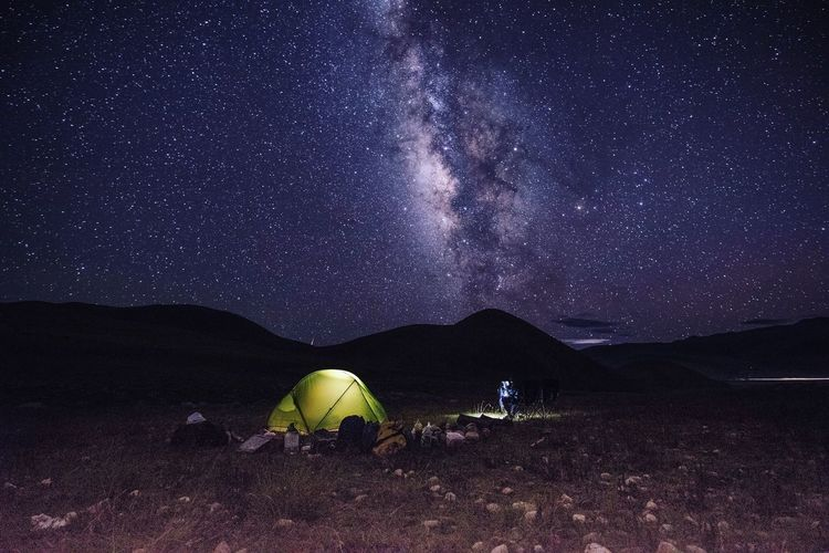 Night Starry Night Tent Camping Adventure Star - Space Milky Way Nature Sky Astronomy Mountain Vacations Outdoors Beauty In Nature Adult People Galaxy Adults Only EyeEmNewHere Done That.