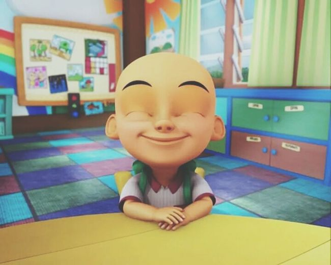 Just Smile  like Upin & Ipin Current Mood