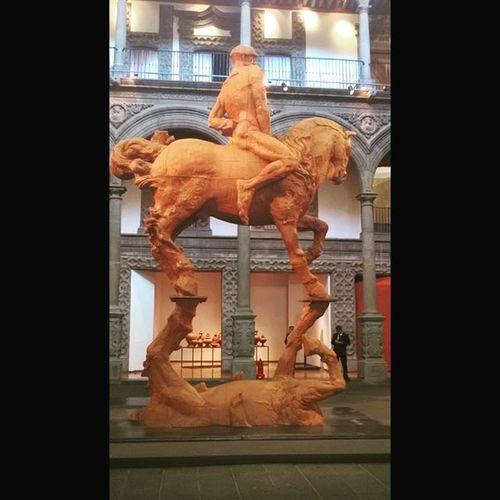 Museobanamex Mexicocity  Mexico Javiermarinescultor Espejo Jinete Caballo Reflejo