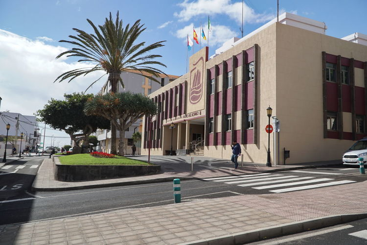 PdR3 Fuerteventura Puerto Del Rosario Architecture Building Exterior Built Structure City Cloud - Sky Day Full Frame No People Outdoors Palm Tree Road Sky Street Transportation Tree