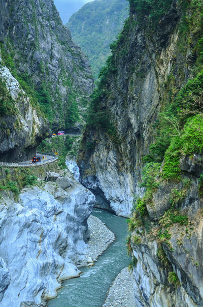 Mountain roads in Taroko National Park ASIA Beauty In Nature Day Hualien, Taiwan Landscape Mountain Mountain Roads Nature No People Non-urban Scene Outdoors Rock - Object Scenics Sky Stream - Flowing Water Taroko Taroko National Park Tranquil Scene Tranquility Tree Water Waterfall Winding Road Betterlandscapes