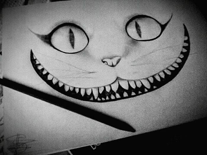 Dibujotime Draw Gato Sonriente Cat Wonderland