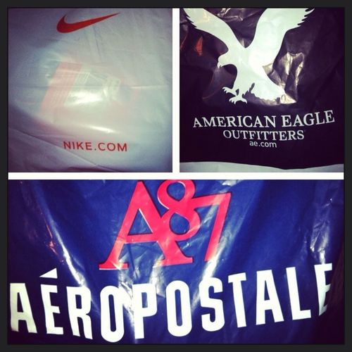 #They Say I Live At The Mall But Just Left The Mall #Nike #American Eagle #Aeropostale