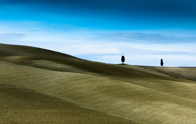 Toscana ITALY San Quirico D'Orcia Beauty In Nature Landscape Val D'orcia NikonLife Nature Sky Beach Silhouette Walking People Cloud - Sky Two People Men Sand Dune Sand Leisure Activity Vacations Grass Day Outdoors