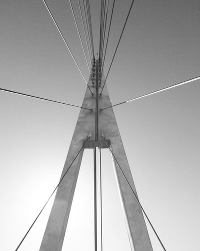 Connection Low Angle View Day Outdoors Puente Engineeringstructures Sky Steel Cable FUENGIROLA  Bridge Built Structure Minimal No People Cable Blackandwhite B&W Collection B&w Minimalism Estructures