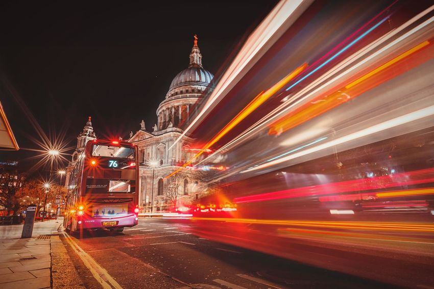 Red Light LDN LDN London Long Exposure Cityscapes Cities At Night The Street Photographer - 2016 EyeEm Awards Capital Cities  LONDON❤ London Bus St Paul's Cathedral The Architect - 2016 EyeEm Awards Blurred Motion Moving Traffic Traffic At Night Londonlife London At Night  City Life City Lights Slow Shutter Night Lights Night Photography London Streets Street Photography Cityscape EyeEm LOST IN London
