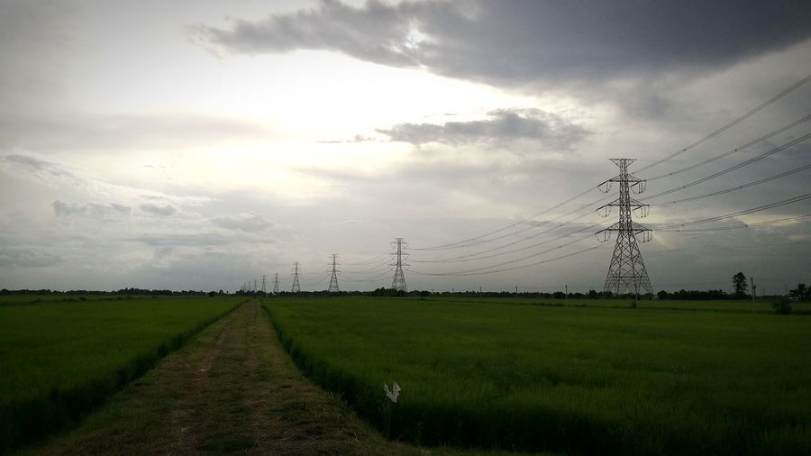 Klong 17... Cable Electricity  Landscape Cloud - Sky Nature Field Sky