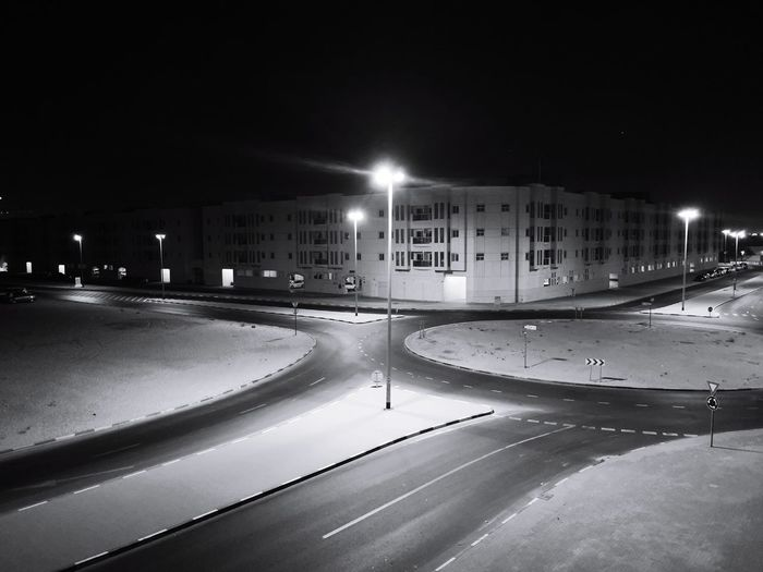 Night Illuminated Building Exterior Built Structure City Outdoors No People The Week On EyeEm Face Of EyeEm Alone In The Dark Lonely Shadow Shadows & Lights Faces Of EyeEm Personal Perspective Blackandwhitephotography Black&white EyeEm Ready