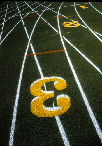 View Of Number On Running Track