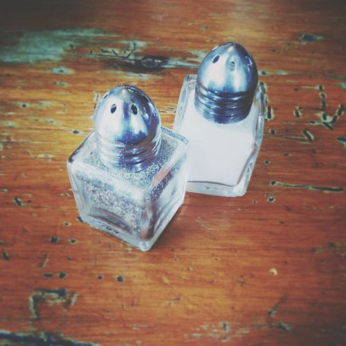 Be salt..and pepper of the world.Saltandpepper Lunch Table Antique