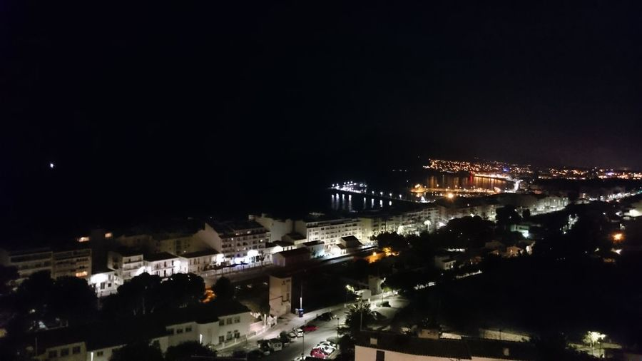 Cities At Night Altea Beach And City