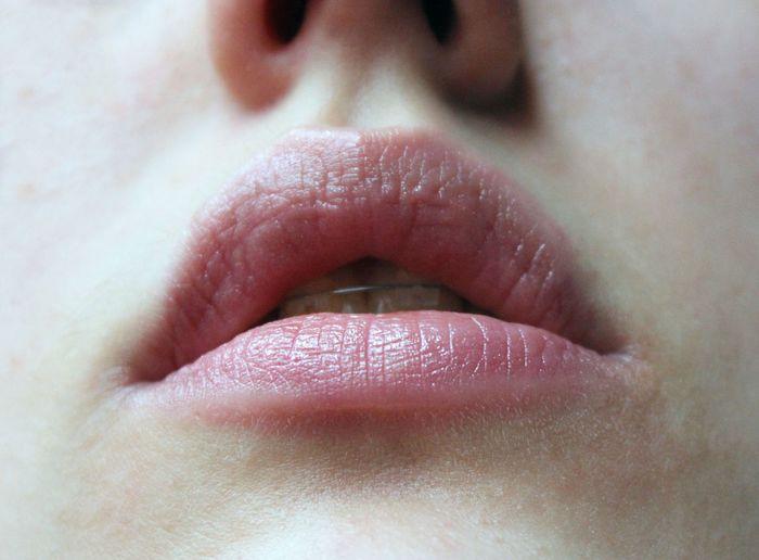 Close-up of lip