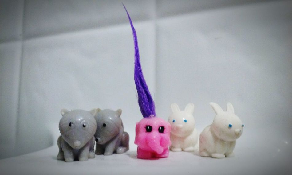 Friends Personality  Different Bold And Beautiful Pink Elephant ♥ Bunnies Long Hair Dont Care Squishies