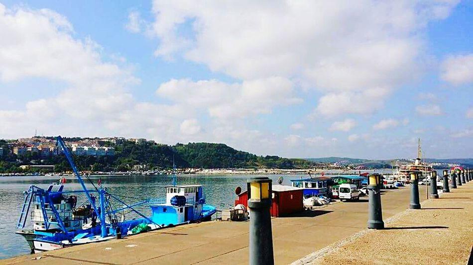 Sky Sea Quayside Fishing Boat