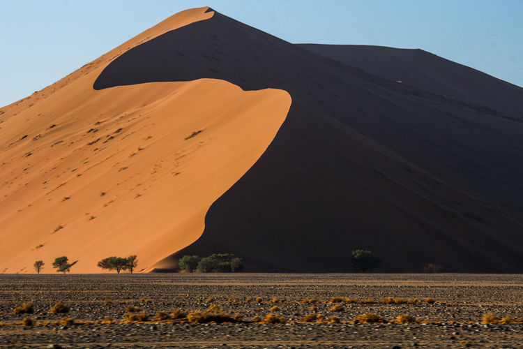 Dunes - Namib Desert Dunes Namib Desert Namibia Namibia Landscape NamibiaPhotography Sossusvlei Travel Travel Photography Africa Arid Climate Beauty In Nature Clear Sky Day Desert Dry Landscape Nature No People Outdoors Sand Sand Dune Scenics Travel Destinations