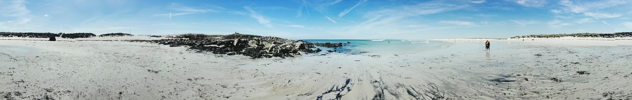 EyeEm Selects Beach Sea Water Sky Cloud - Sky Blue Sand Horizon Over Water Outdoors Vacations Beauty In Nature Cote Bretonne Bretagne Atlantic Coast Day Beauty In Nature Travel Destinations Panoramic Nature Vacations Landscape Perspectives On Nature