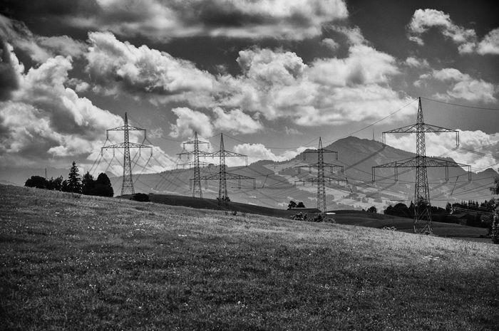 Grünten Allgäu Energy Strom Überlandleitung Elektrizität Electricity  Clouds Nature Mountain Alpen