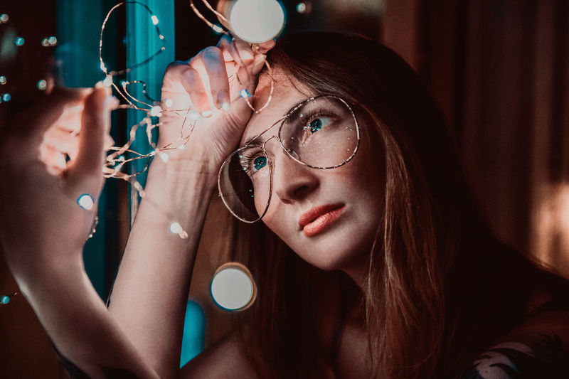 Portrait of woman with eyeglasses