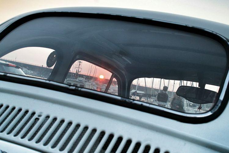 O' sole mio 🌞 Sunset Porto Bay Boats Seaside Mare Sunset_collection 500 Fiat500 Fiat Fiat 500 Window Tramonto Torredelgreco Napoli Winter Wintertime Campania Naples South Southitaly Sud Italy Italia Italianstyle