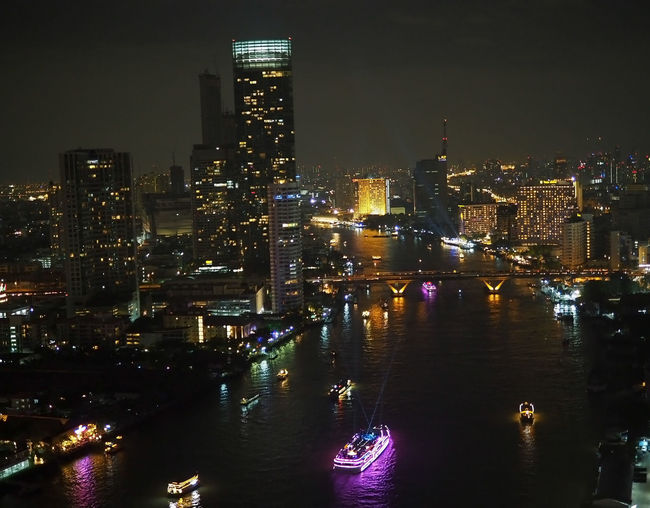 Bangkok Thailand. Building Building Exterior Built Structure Chaopraya River At Night City Cityscape Illuminated Modern Night Nightlife No People Outdoors River Skyscraper Tall - High Tower Water