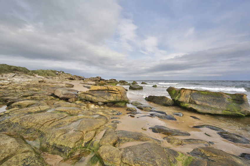 Sky Water Sea Rock Cloud - Sky Rock - Object Land Solid Nature Beach Beauty In Nature Horizon No People Scenics - Nature Outdoors Horizon Over Water Tranquil Scene Tranquility Day Rocky Coastline Highlands Scotland Scottish Details Nature Wonderful Colors Orkneys