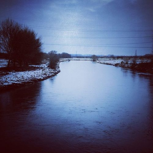 Cold water... River Rivertrent Water Winter blueiphoneonly iphoneagram iphonography staffordshireiswonderfull instamood instawinter instagrammer instaphoto