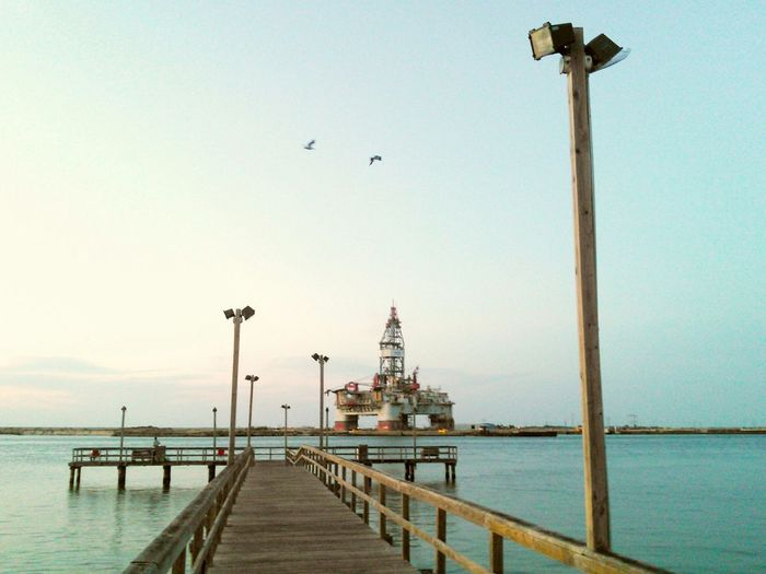 The Gaint Oil Rig and the Pier