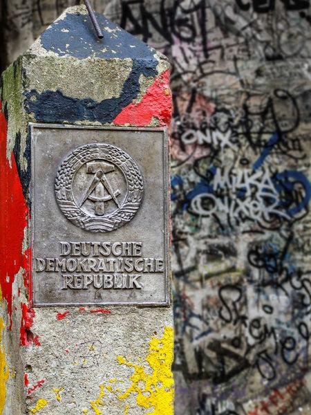 GDR German Democratic Republic Architecture Art And Craft Border Control Graffiti Stone Tombstone