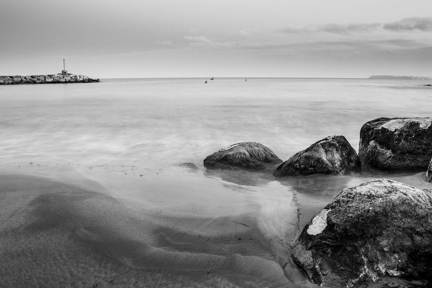 Lighthouse Beach Tranquility Sea Tranquil Scene Beach Sand Nautical Vessel Horizon Over Water Black & White Monochrome Alicante City Serenity Nature_collection Slow Shutter Water Stones Stones In The Water No People Nature Beauty In Nature Outdoors Blackandwhite Photography Peace And Quiet Scenics Peaceful View Alicante