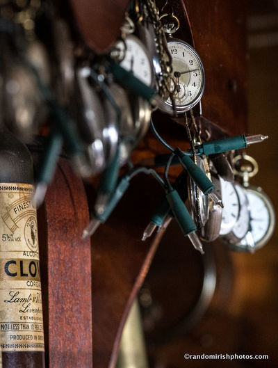 Time pieces behind Casey's Bar, Union Hall, Co Cork. Clocks Cork Ireland Discover Ireland